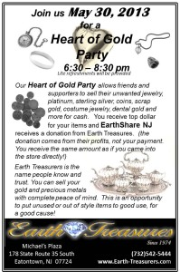 Earth Treasures Heart of Gold Party