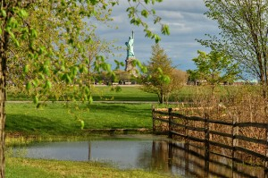 2nd Prize - Gail Zavian - Spring Puddle at Liberty State Park